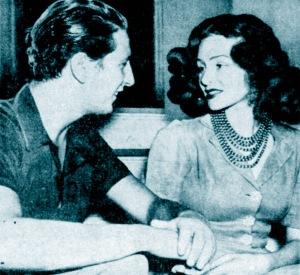 Igor Cassini with his wife, Austine. 1947