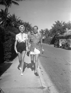 Carl-Gustaf and Hjordis Tersemeden. Palm Beach, 1946.