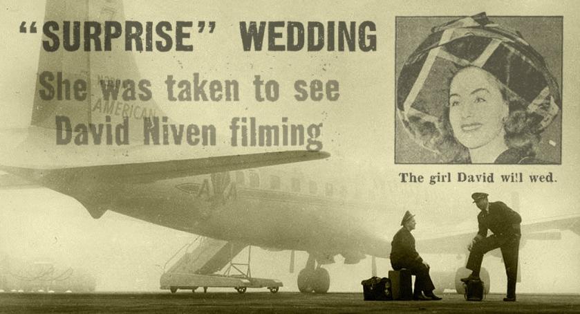 Fogbound airplane, 1940s