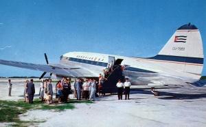 Passengers boarding C-46