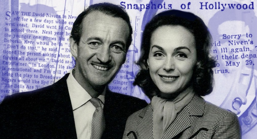 Hjördis and David Niven, October 1957