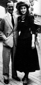 David and Hjordis Niven, off on honeymoon, 1948