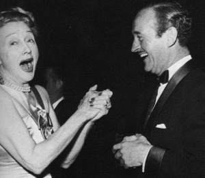 Hedda Hopper with David Niven