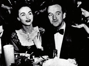 David Niven with Hjordis Niven, March 1948