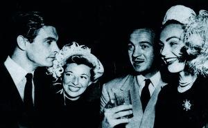 HJordis Niven with Louis Jourdan, June 1948