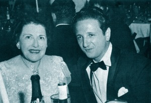 Fellow Hearst papers' gossip columnists, Louella Parsons and Igor Cassini.