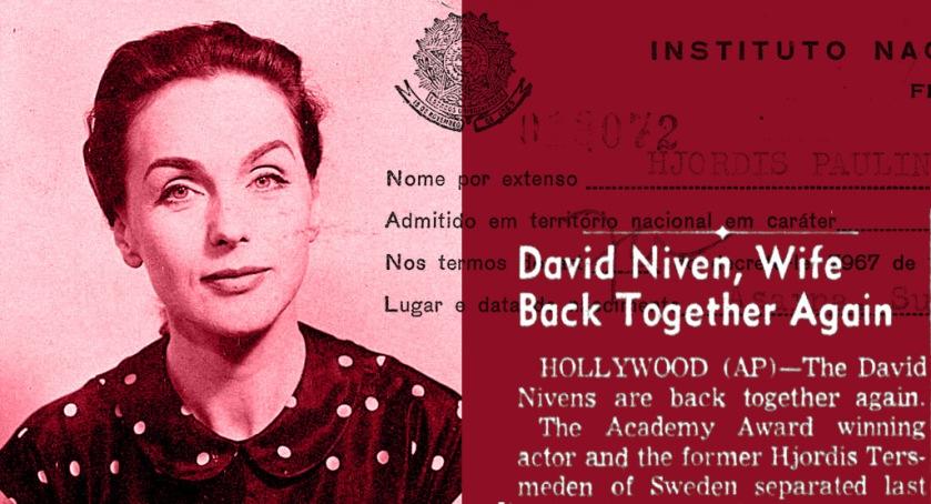 Hjordis Niven, October 1959