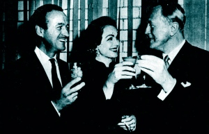 David and Hjordis Niven with Sir Robert Hadlow, Beverly Hills, Feb. 1953