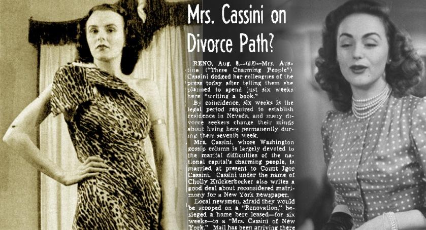 Austine Cassini and Hjordis Niven, LIFE 1946-48