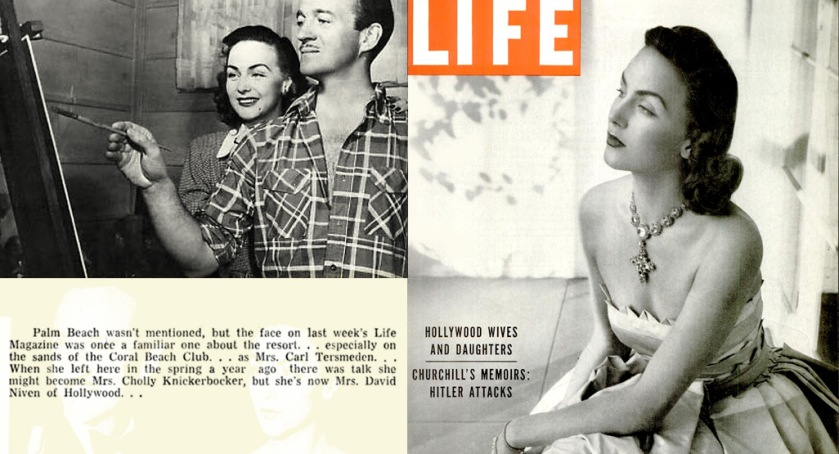 Hjordis Niven on the cover of LIFE magazine, May 1948