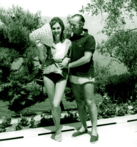 David and Hjordis on holiday at La Scoglietto, August 1961
