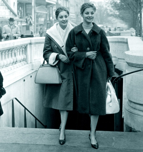 Pia and Mia Genberg in Paris, 1961