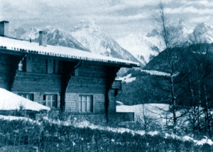 Hjordis and David Niven's chalet in Chateau D'Oex