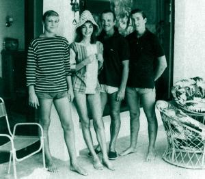 The Niven family, Saint-Jean-Cap-Ferrat, summer 1961
