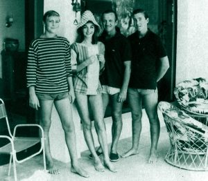 The Niven family, Saint-Jean-Cap-Ferrat, summer 1961