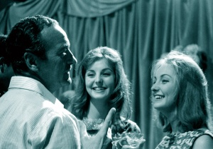 David Niven with Pia and Mia Genberg