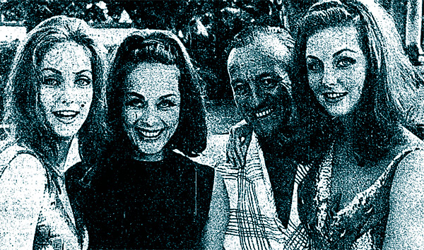 Davd and Hjordis Niven with nieces Pia and Mia Genberg, 1965