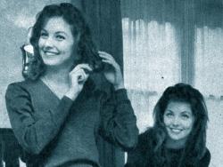 Pia and Mia Genberg in Paris, 1961