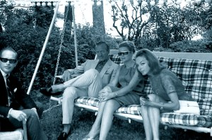 David and Hjordis Niven with Princess Grace of Monaco. Cap Ferrat, c.1964-65
