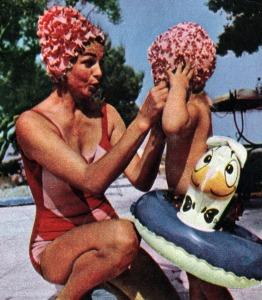 Hjordis and Krsitina Niven, Cap Ferrat 1964.