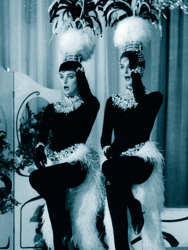 Pia and Mia Genberg perform a parody of The Kessler Twins. Italy, 1962-1963