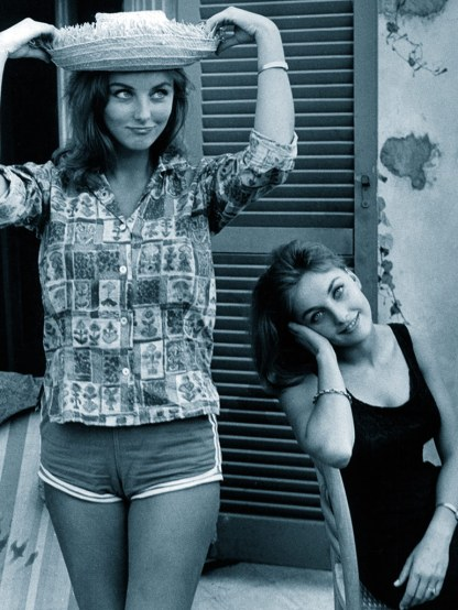 Pia and Mia Genberg, Italy, c.1962.