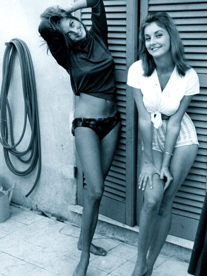 Pia and Mia Genberg, Italy, c.1962-1963.