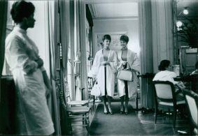 Gudrun and Maj-Lis (Pia and Mia) Genberg. Paris, 1961.