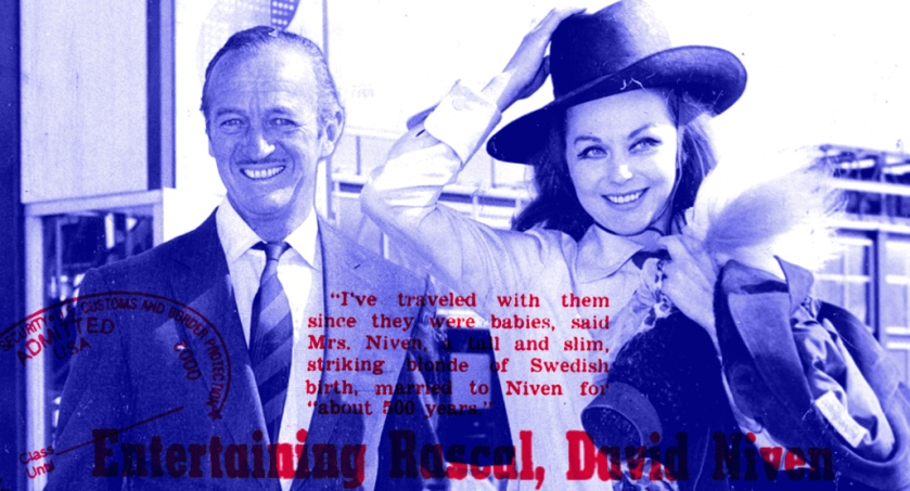 David and Hjördis Niven en route to Hollywood, April 1967