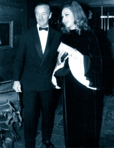 David and Hjördis Niven at a New Year's party, 1969