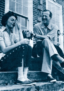 Hjördis and David Niven, August 1954