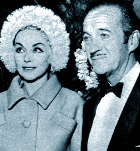 David and Hjördis Niven, 1963