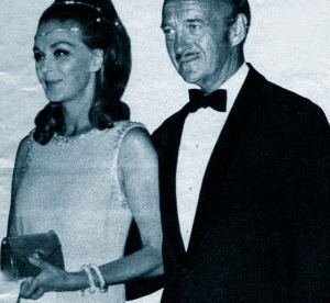 Hjördis and David Niven attend a Red Cross Ball in Monte Carlo, 1969