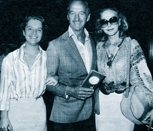 Kristina, David and Hjördis Niven, 1977