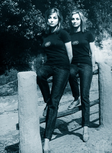 Mia and Pia Genberg, c.1964