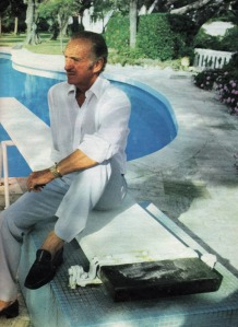 David Niven at Lo Scoglietto, 1977