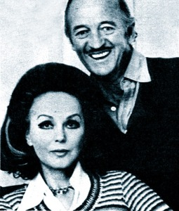 Hjordis and David Niven, early 1977
