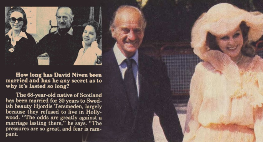 Hjordis and David Niven, 1978