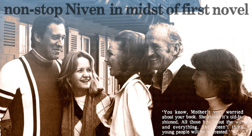 David (Jr), Fiona, Hjordis, David and Kristina Niven, 1979