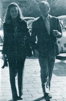 Hjordis and David Niven, France, 1974