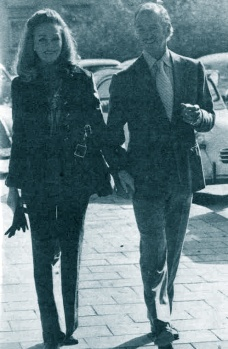 Hjordis and David Niven, France, 1974