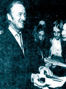 David Niven, Detroit, 31st October 1972
