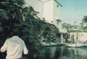 David Niven at Lo Scoglietto, 1977