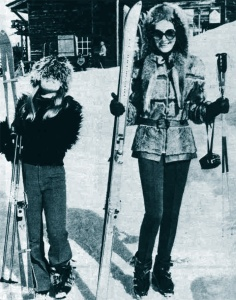 Kristina and Hjordis Niven, Switzerland 1973