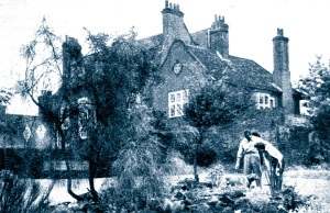 David and Hjordis Niven in the gardens at Byfleet Manor, 1954