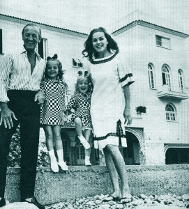 The Niven family at Lo Scoglietto, April 1967