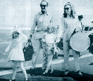 David Niven with his family, July1968