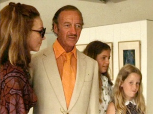 7th September 1973. Hjodis Niven and family at Marc Chagall exhibition