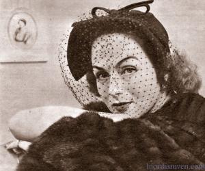 Hjordis Genberg modelling in New York, 1947