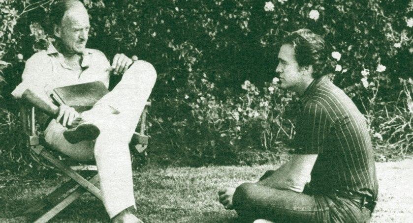 David Niven with David Niven Jr, 1981
